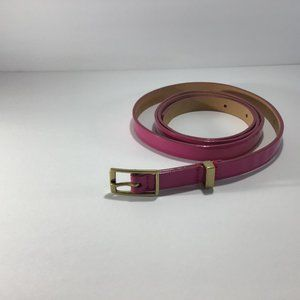 J.Crew Pink Patent Leather Belt Large